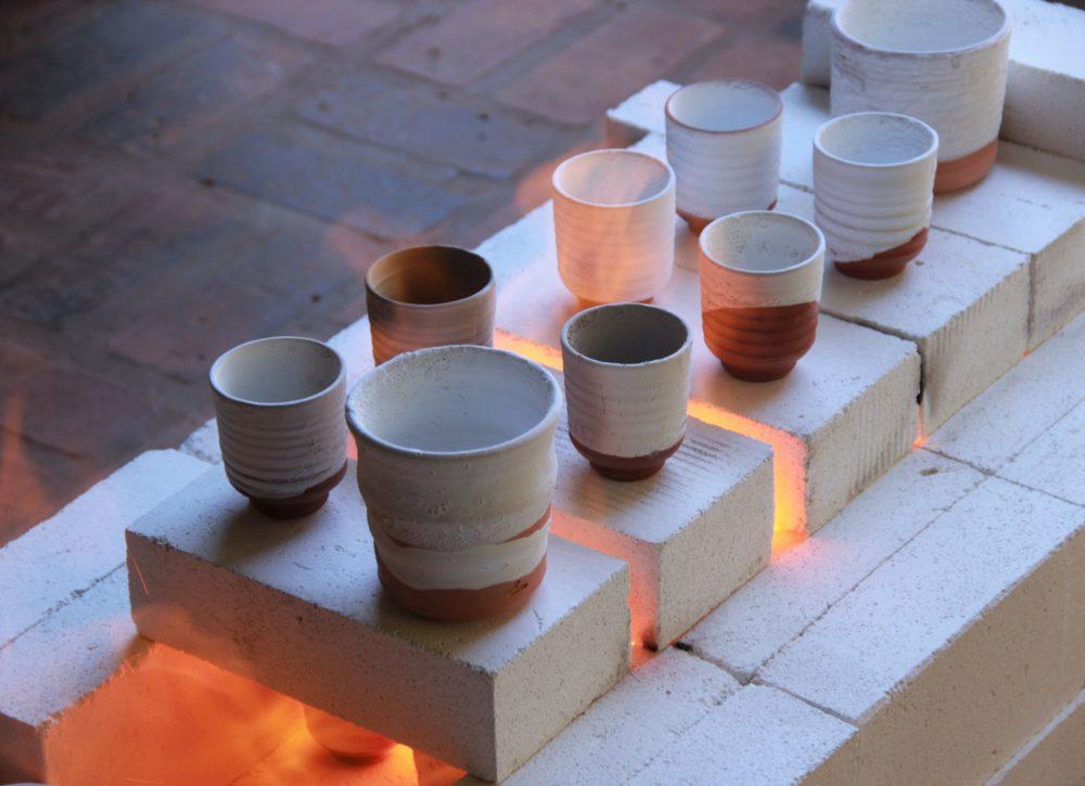 pottery firing in kiln
